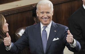 Biden thumbs up